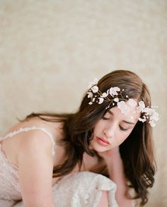 Flower crown. Perfect amount of whimsy and elegance