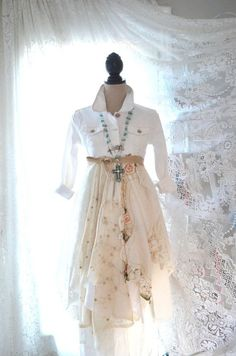 boho linen and lace coat - Google Search