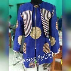 Mode Batik, African Tops, Blouse Batik, Batik Fashion, Sewing, Model, Pattern, How To Wear, Jackets