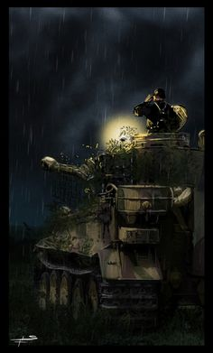 Tiger tank gif by on DeviantArt Anime Military, Military Art, Military History, Tank Wallpaper, Military Drawings, German Soldiers Ww2, War Thunder, Tiger Tank, Ww2 Tanks