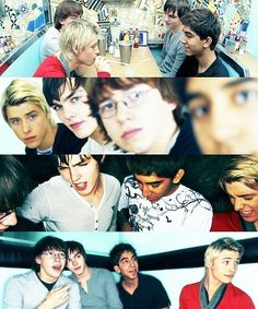 The boys from Skins UK Generation 1: Mitch Hewer, Nicholas Hoult, Mike Bailey, Dev Patel, definitely missing Joe Dempsie!