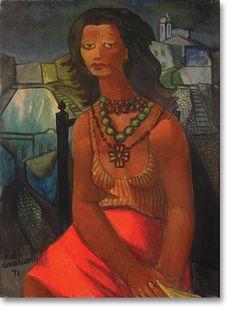 74 DI CAVALCANTI, Emiliano (1897 - 1976) Marina Montini. Óleo sobre tela, 80 x 60 cm. gravuras e telas do pintor brasileiro di cavalcanti - Pesquisa Google
