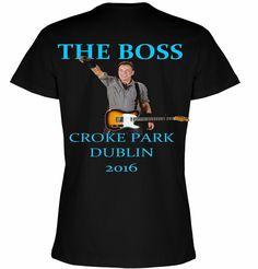 Bruce Springsteen Croke Park Dublin 2016 Ladies Tee Back