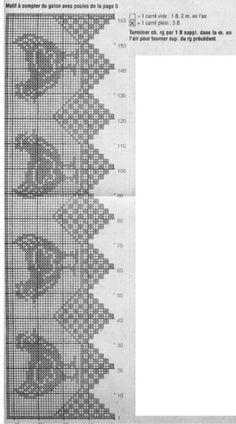 Elena - j j - Picasa Web Albümleri Filet Crochet Charts, Crochet Motifs, Crochet Doilies, Crochet Stitch, Knit Crochet, Russian Crochet, Crochet Birds, Easter Crochet, Thread Crochet