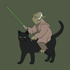 """Yoda Riding Cat"" by Mike Joos"