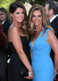 Maria Shriver and her daughter Katherine Schwarzenegger at the 2014 Primetime Creative Arts Emmy Awards in LA.