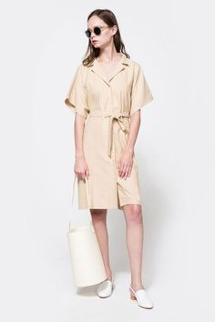 Your all-in-one dress: garden party, beach cover-up, office frock, you name it.Baserange Sleeveless Dress, $186, available at Need Supply Co.  #refinery29 http://www.refinery29.com/2016/03/105613/fashion-trends-spring-outfits#slide-8