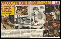 """""""The Nutshell Studies of Unexplained Death"""": International Harvester heiress Frances Glessner Lee created a series of dioramas of real crime scenes as teaching aids for investigators."""