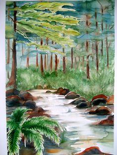 bosco 35x51 cm acquerello di Lorenza Pasquali www.lorenzapasquali.it
