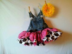 Items similar to Ride'm Cow Girl pink bandanna and cow print overall tutu skirt newborn - , girls to tween on Etsy Cow Birthday Parties, Cowgirl Birthday, Cowgirl Party, Farm Birthday, Birthday Ideas, Cowgirl Costume, Birthday Pictures, Twins 1st Birthdays, Farm Party