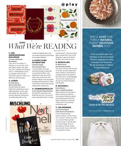 What We're Reading: From the September 2016 issue of @marieclaire. #PageTurners #BookClubPicks