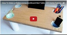 How To Make a Multipurpose Cardboard Bed Table