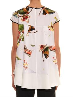 Erdem Jasmine Vairao Birds silk top