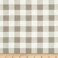 Premier Prints Plaid  Ecru from @fabricdotcom  Screen printed on cotton twill; this versatile lightweight (approx. 5.75 ounce) fabric is perfect for window treatments (draperies, valances, curtains and swags), toss pillows, bed skirts, duvet covers, some upholstery and other home decor accents. Create handbags, apparel (skirts, lightweight jackets, pants) and aprons.