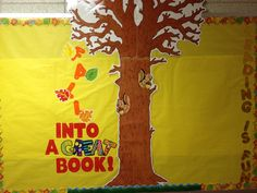 Fall reading bulletin board - once students finish a book, they fill out a leaf with his/her name, the book title, and book author and add it to the tree.
