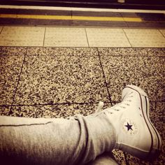 Tube station white converse legs