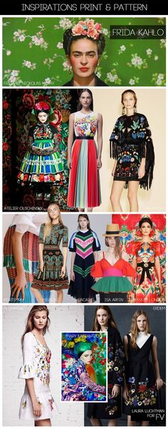 [ INSPIRATIONS PRINT + PATTERN ] KUKKA by Laura Luchtman - S/S 2016 - FRIDA KAHLO