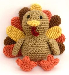 crochet turkey + crochet + holidays + thanksgiving + toys