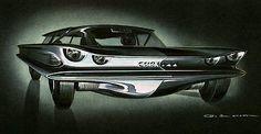 1959 AMC Cuda  44 Concept Car - Promotional Advertising Poster