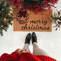 Merry Christmas door mat #christmas #christmastime #chloesusanna