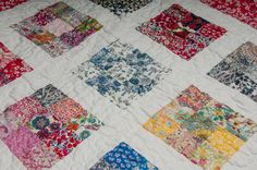 Nine patch Liberty London fabric quilt