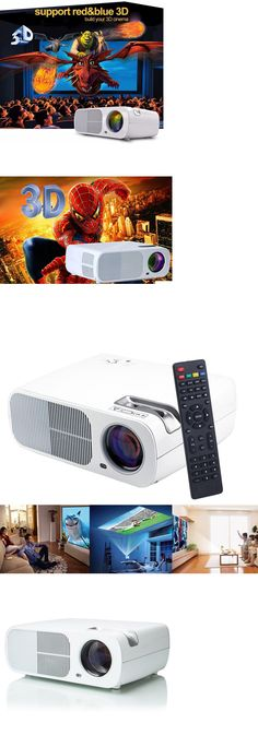 Home Theater Projectors: 7000 Lumens Full Hd 1080P Led Lcd Vga Hdmi Wifi Home Theater Projector Cinema Oy BUY IT NOW ONLY: $143.95