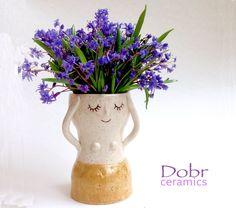Ceramic vase, White, Beige, Made to order by DobrCeramics on Etsy https://www.etsy.com/uk/listing/263865832/ceramic-vase-white-beige-made-to-order