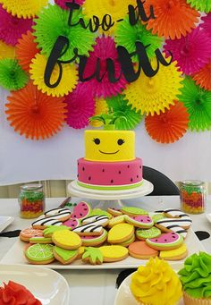 Two Tti Frutti Themed 2nd Birthday 2 Year Old Party Girl