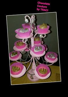 Chocolate Couture by TRACI... Crown Oreos...... Princess Theme Babyshower
