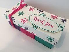 Three Segment Gift Box - Video Tutorial Using Stampin' Up Products. | CraftyCarolineCreates | Bloglovin'