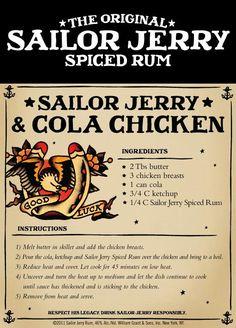 Sailor Jerry & cola chicken