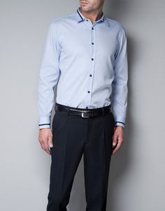 Constrasting Tailored Shirt by ZARA