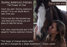 Saving America's Horses - Home page.  Join us !