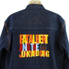 c175197a5 Platinum Fubu Fat Albert Jacket Mens Large L Junkyard Gang Denim Blue Jean  Coat  FUBU