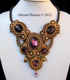 Soutache jewelery. Amazing art. Why did I not know about this????? By Miriam Shimon