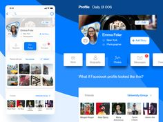 Profile Daily UI 006 by Ihor Hrynda Daily Ui, Facebook Profile, Profile Design, Saint Charles, San Luis Obispo, Show And Tell, Messages, Text Posts