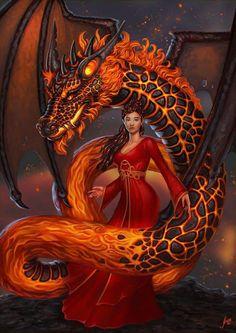 Commission: Ilia and Tulbukin by JuneJenssen on DeviantArt Beautiful Fantasy Art, Dark Fantasy Art, Fantasy Girl, Fantasy Artwork, Mythical Creatures Art, Mythological Creatures, Fantasy Creatures, Fantasy Female Warrior, Female Art