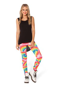 Rainbow Bright Leggings - LIMITED › Black Milk Clothing Wanted the original versions of these since I got into Black Milk.so HAD to buy these when they re-released them! Can't wait for them to arrive! Leggings Sale, Black Leggings, Cheap Leggings, Black Milk Clothing, Stockings Lingerie, Fabric Shop, My Black, Clubwear, Cool Outfits