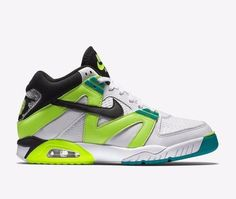 becbfe7e9b66d Men s Nike Air Tech Challenge III 3 Retro White Volt Emerald Black  749957-100 10.5 for sale online