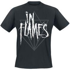 Classica T-Shirt nera degli #InFlames.
