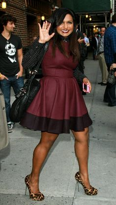 Mindy Kaling - I love love this look.  I would emulate this woman if I thought I could pull it off.  The lady has style.