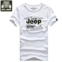 Good price AFS JEEP Brand T shirt Men t-shirt Print Summer Shirt Men O-Neck Army t shirt Male Camisa Masculina Fashion Fitness Outwear  just only $13.50 with free shipping worldwide  #tshirtsformen Plese click on picture to see our special price for you