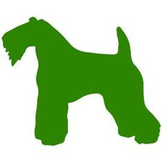 Kerry Blue Terrier Dog Decal Sticker. Available in 19 colors! $