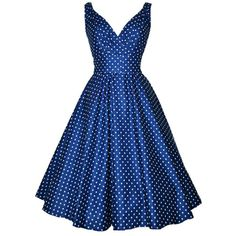Retro Polka Dot Print V-Neck Sleeveless Dress For Women #shoes, #jewelry, #women, #men, #hats