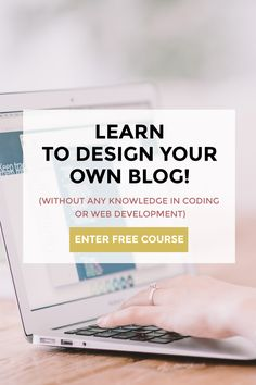 Have you ever visited a blog based on the promise of great content and … what a dump?!? Well, I definitely have! I don't really get why so many bloggers miss on taking care of their blog design. After all, it's the first impression what matters in the blogosphere. For this reason, I created a FREE 7-day course that is going to teach you how you can turn your blog into a beautiful online space. Click through to enter NOW!