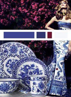 Blue and White - China