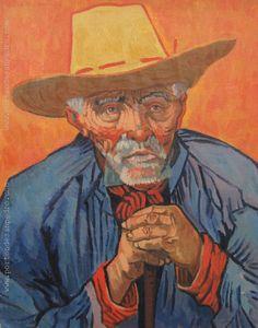 """Pablo Felipe Villegas Mañé  """"El campesino, retrato de Patience Escalier"""" Óleo sobre tela  Homenaje a Vincent Van Gogh 40 x 32 cm.  www.portondesanpedro.com/ver-producto.php?id=12015"""