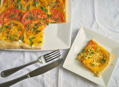Cheese Please: Rustic Tomato Cheese Tart