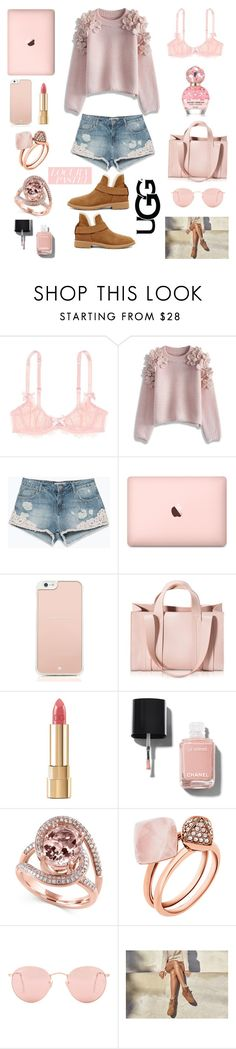 """""""//The Pastel Edit//The New Classics With UGG: Contest Entry"""" by b-chotai ❤ liked on Polyvore featuring L'Agent By Agent Provocateur, Chicwish, Zara, Marc Jacobs, Kate Spade, Corto Moltedo, Dolce&Gabbana, Chanel, Effy Jewelry and Michael Kors"""