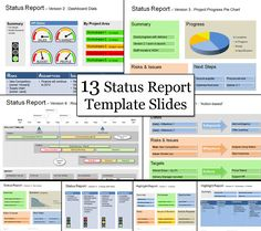 The Point Project Status Template Has 13 Templates To Help You With All Update Reports